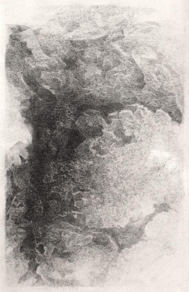野生の作法/N42〈月で見た雲〉 2018年 鉛筆/紙 作家蔵