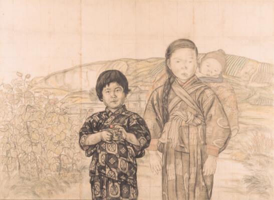 久本春雄「村童」下図