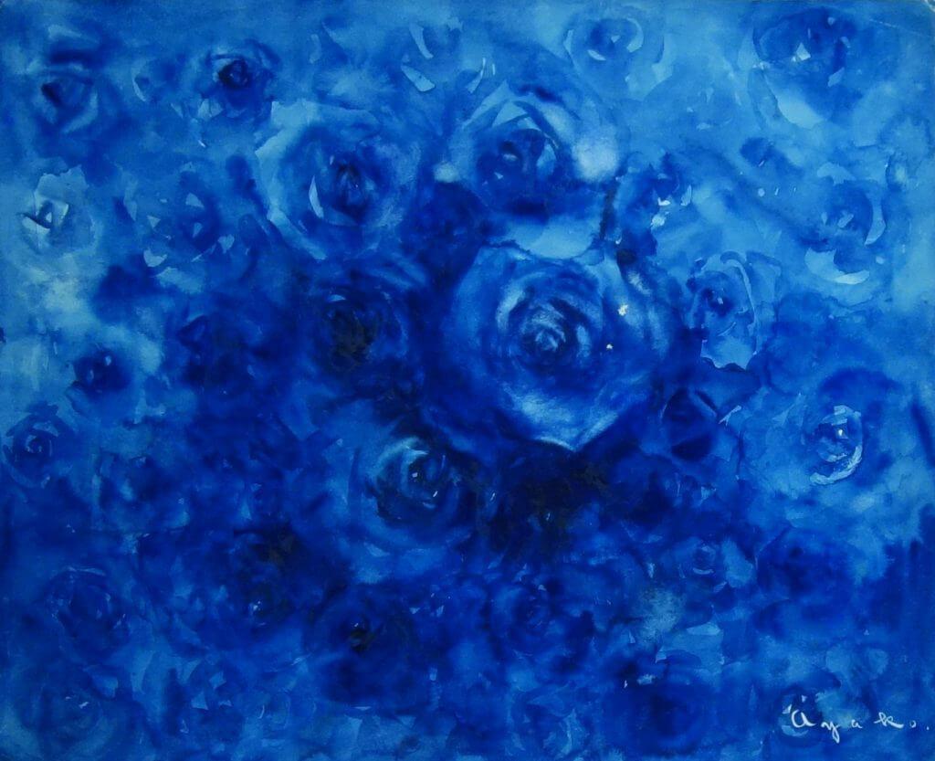 秋山あや子の青い薔薇