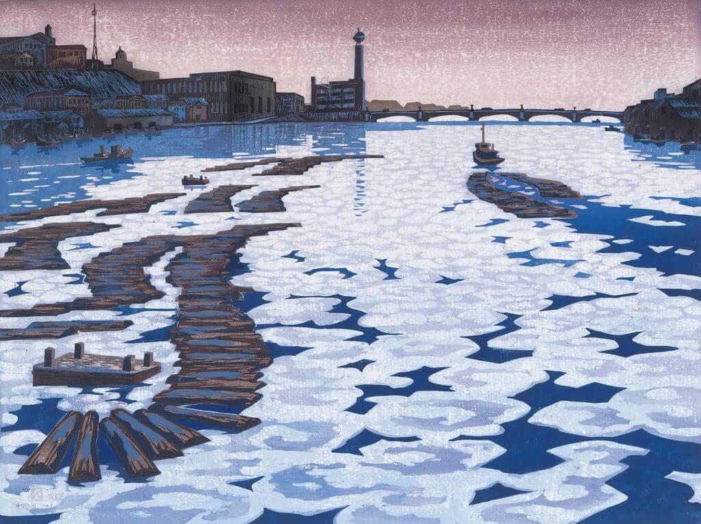 阿部貞夫「氷雪の河」
